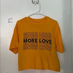 yellow/orange shirt from forever 21, never worn
